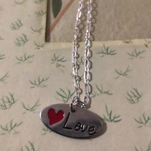 ❤️Love Charm On Sterling Necklace  Perfect Gift🎁